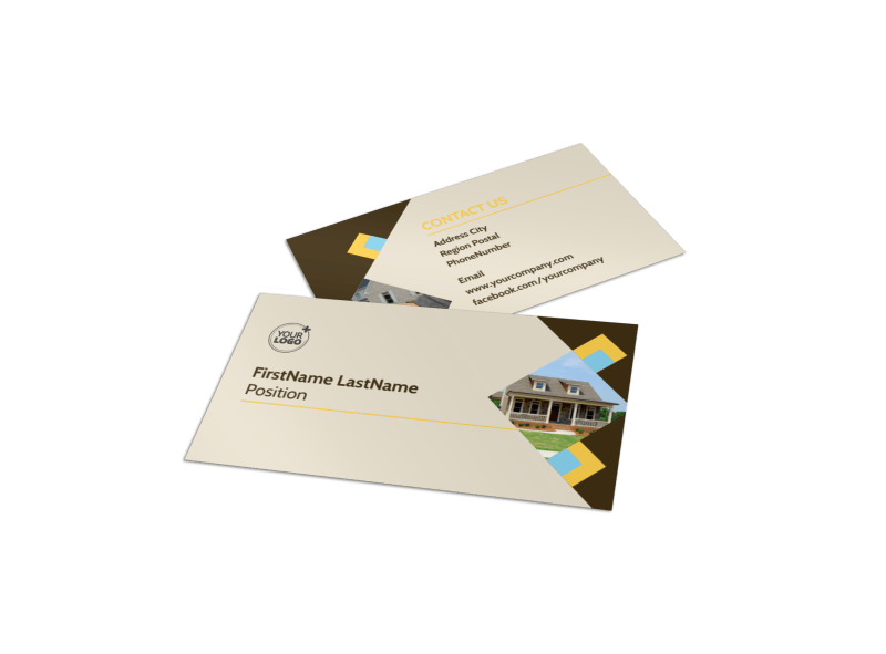 Local Property Management Business Card Template Preview 1