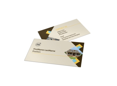 Local Property Management Business Card Template preview