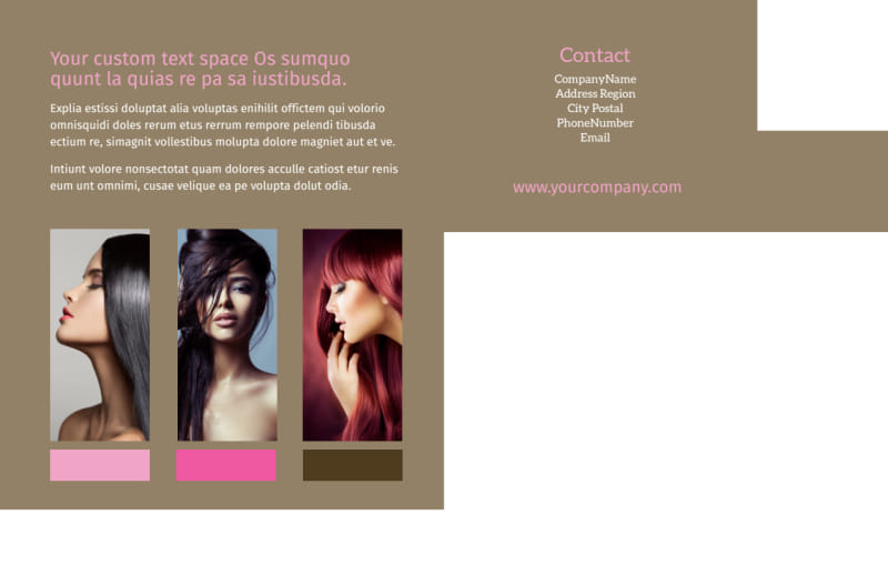 General Beauty 2 Postcard Template Preview 3