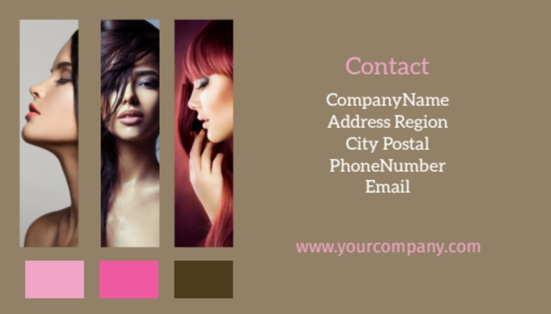 General Beauty 2 Business Card Template Preview 3