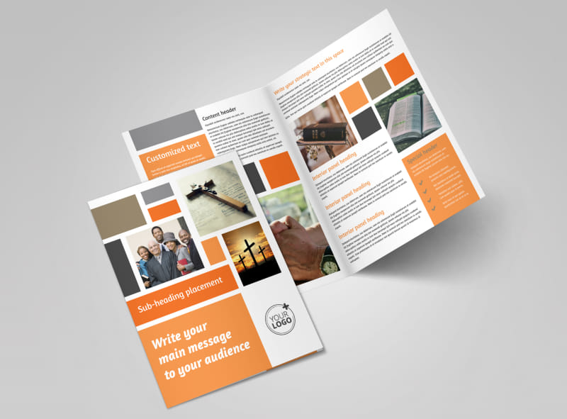 General Church 2 Bi-Fold Brochure Template