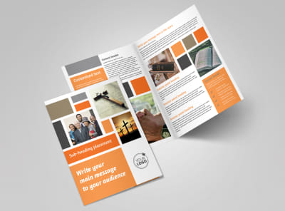 General Church 2 Bi-Fold Brochure Template preview