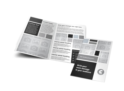 Generic Bi-Fold Brochure Template 8856