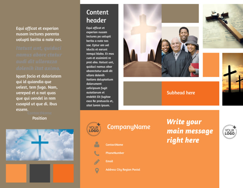 General Church 2 Brochure Template Preview 2