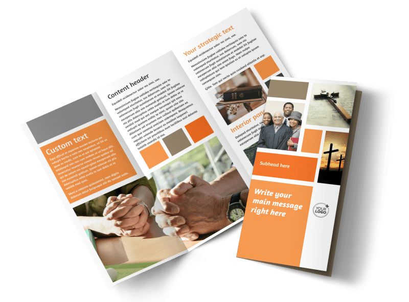 General Church 2 Brochure Template Preview 1