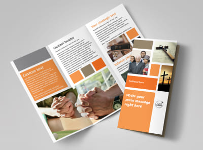 General Church 2 Tri-Fold Brochure Template preview