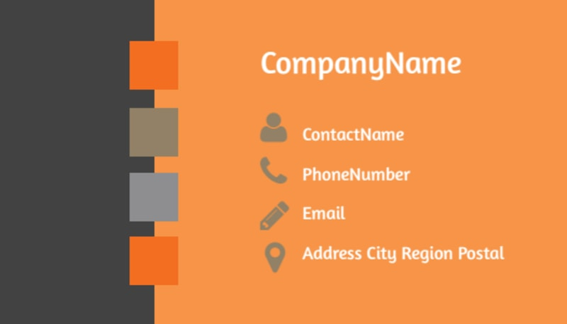 General Church 2 Business Card Template Preview 3