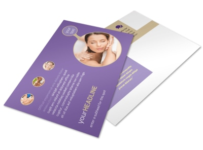 Massage Therapy Postcard Template 2
