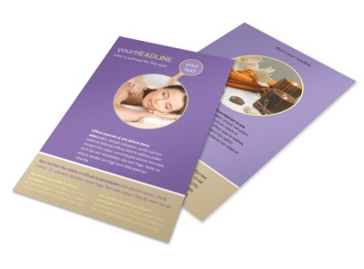 Massage Therapy Flyer Template 3 preview