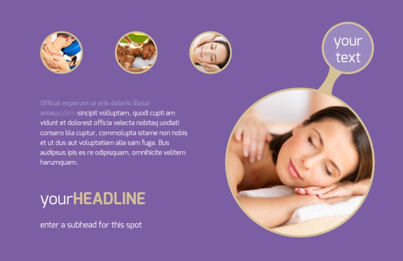 Massage Therapy Postcard Template Preview 2