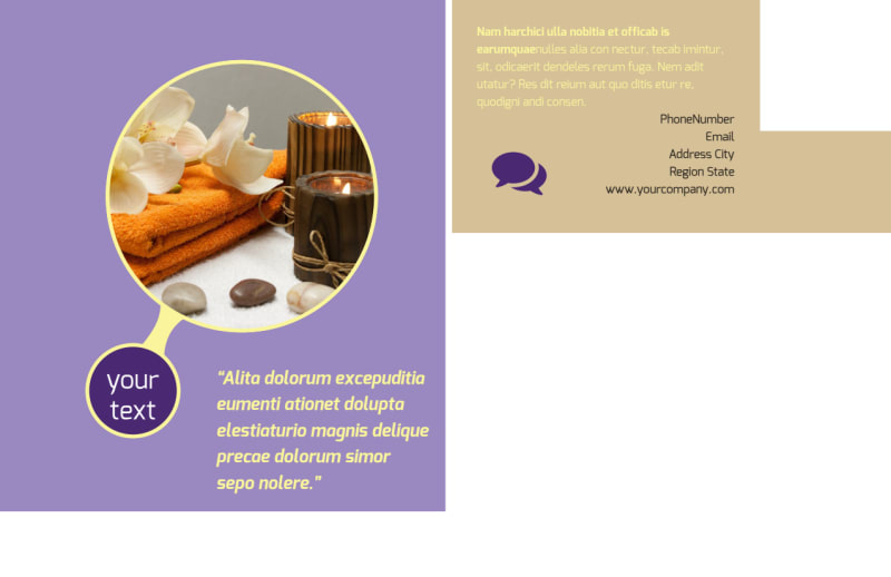Massage Therapy Postcard Template Preview 3