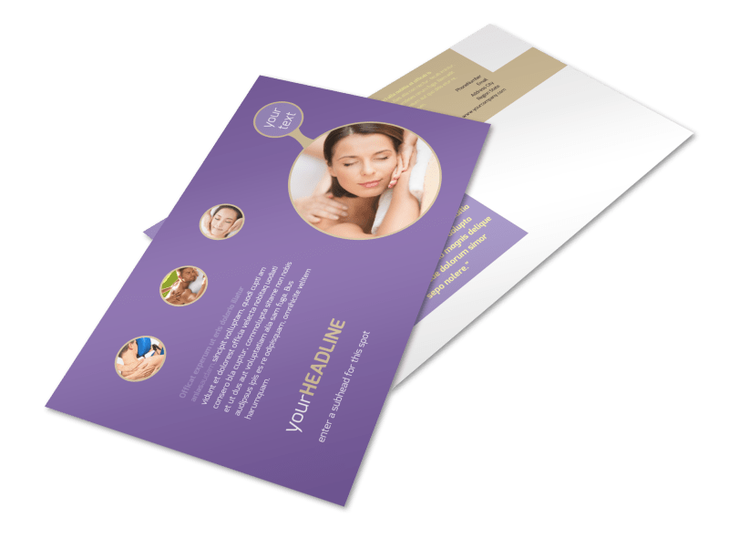 Massage Therapy Postcard Template Preview 1