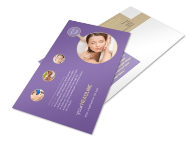 Massage Therapy Postcard Template preview