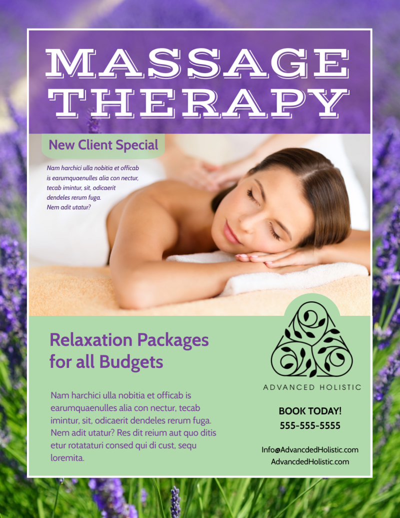 Massage Therapy Flyer Template Preview 2