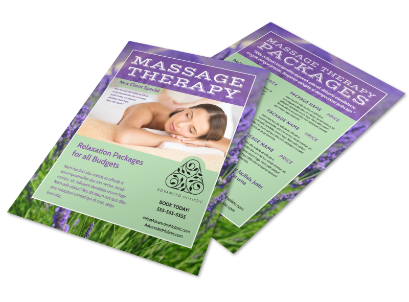 Massage Therapy Flyer Template Preview 1