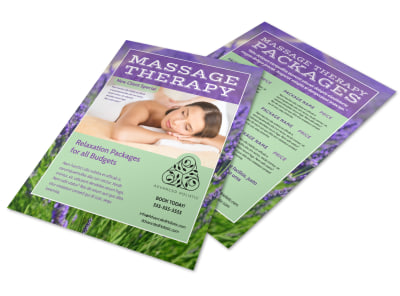 Massage Therapy Flyer Template preview