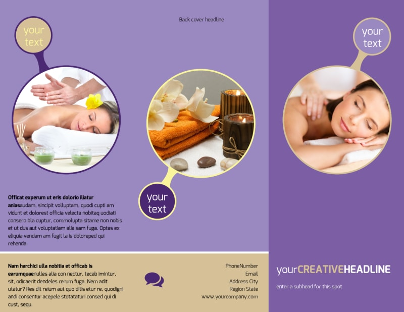 Massage Therapy Brochure Template Preview 2