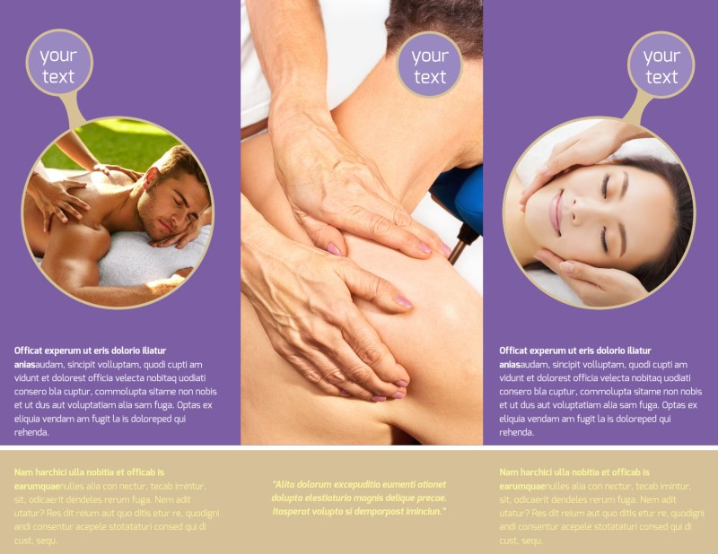 Massage Therapy Brochure Template Preview 3