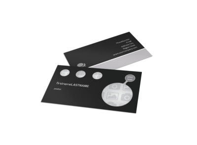 Generic Business Card Template 8869