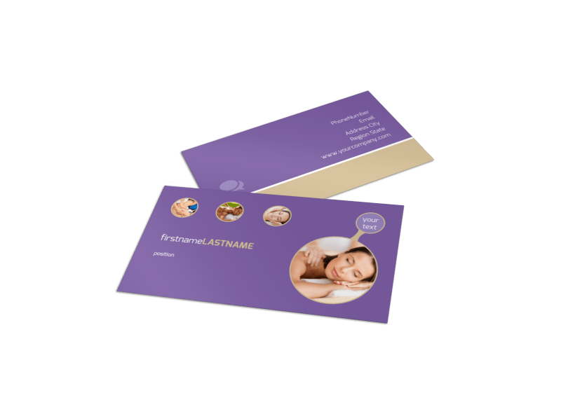 Massage Therapy Business Card Template Preview 1