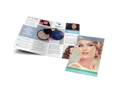 Makeup & Cosmetics Bi-Fold Brochure Template preview