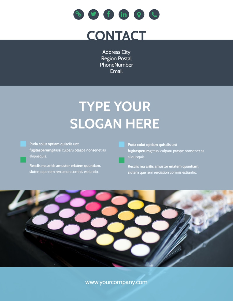 Makeup & Cosmetics Flyer Template Preview 3