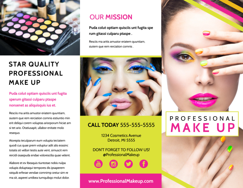 Makeup & Cosmetics Brochure Template Preview 2