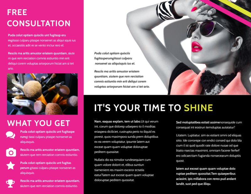 Makeup & Cosmetics Brochure Template Preview 3