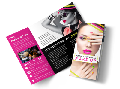 Makeup cosmetics business card template mycreativeshop makeup cosmetics tri fold brochure template colourmoves