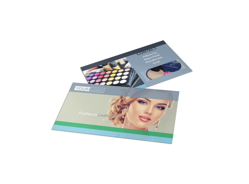 Makeup & Cosmetics Business Card Template Preview 4