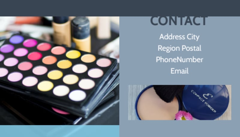 Makeup & Cosmetics Business Card Template Preview 3