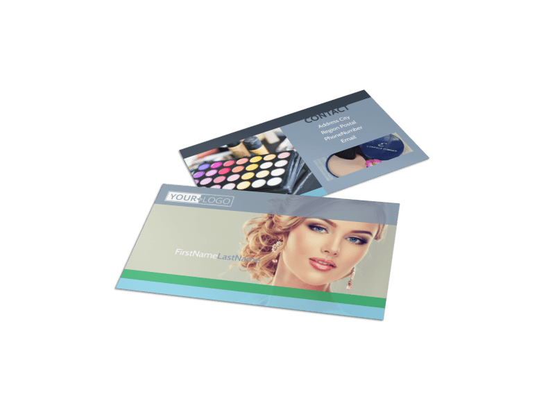 Makeup & Cosmetics Business Card Template Preview 1