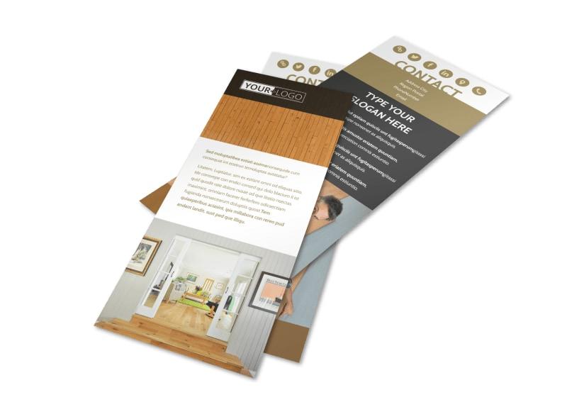 Hardwood Floor Installation Flyer Template 2