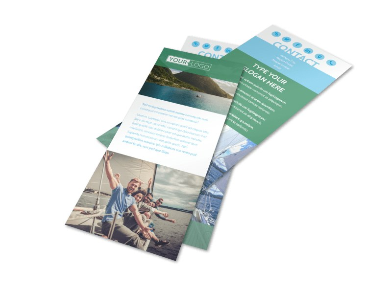 Sailing tours Flyer Template 2