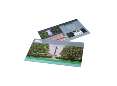 Memorial & Funeral Program Services Business Card Template preview