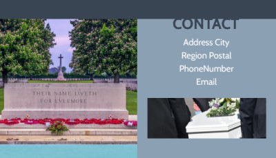 Memorial & Funeral Services Business Card Template Preview 2