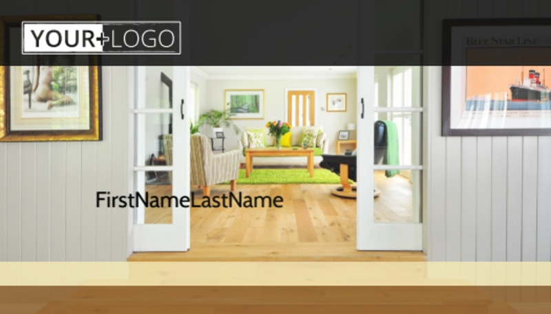Hardwood Floor Installation Business Card Template Preview 2