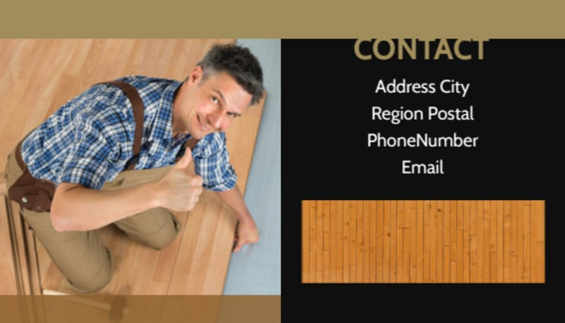 Hardwood Floor Installation Business Card Template Preview 3