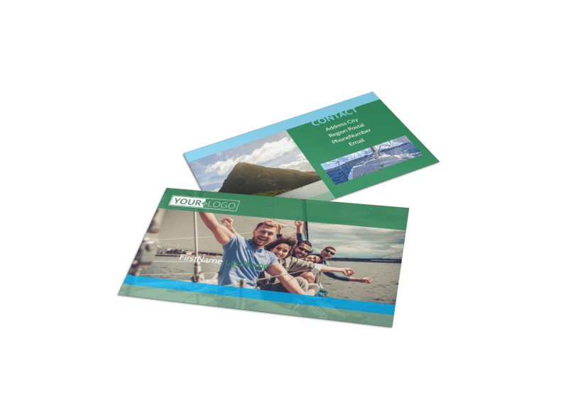 Sailing tours Business Card Template