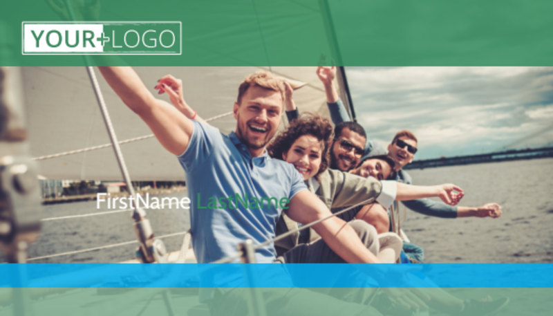 Sailing tours Business Card Template Preview 2