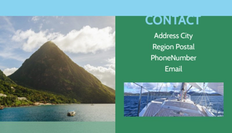 Sailing tours Business Card Template Preview 3