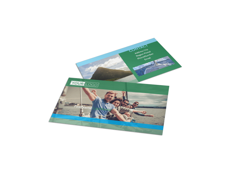 Sailing tours Business Card Template Preview 1