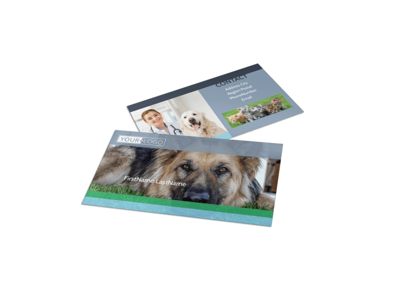 Animal Charities Business Card Template Preview 4