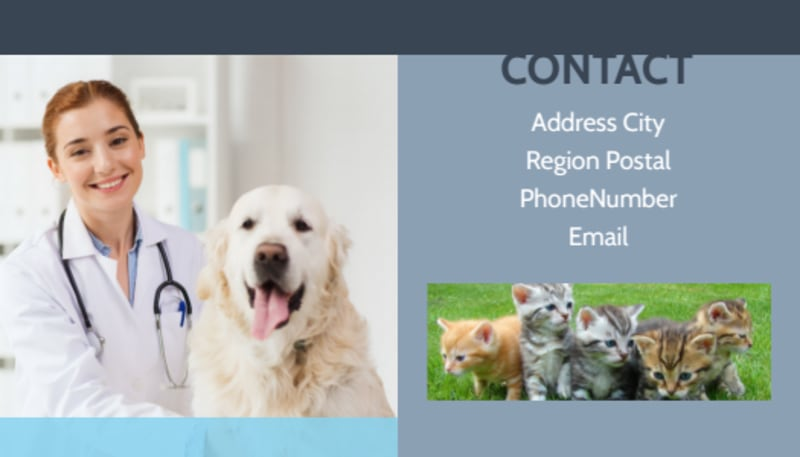 Animal Charities Business Card Template Preview 3