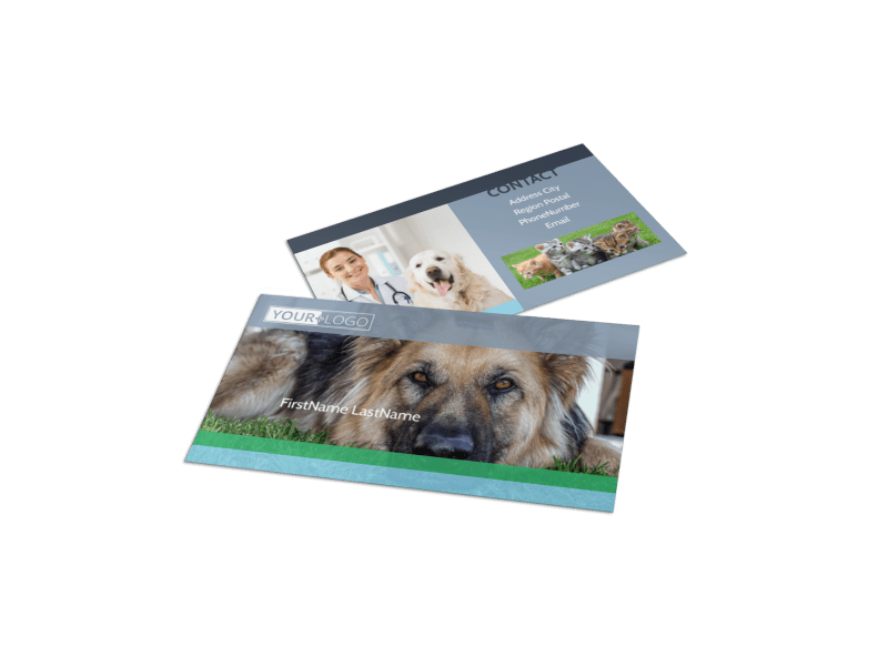 Animal Charities Business Card Template Preview 1