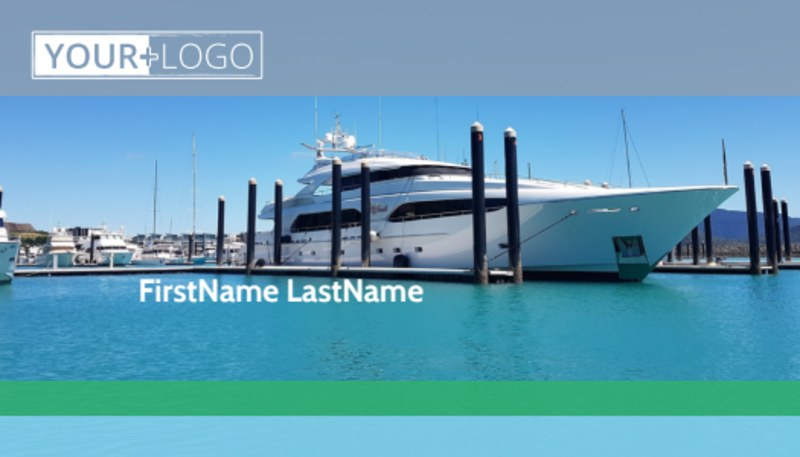 Marine Insurance Business Card Template Preview 2