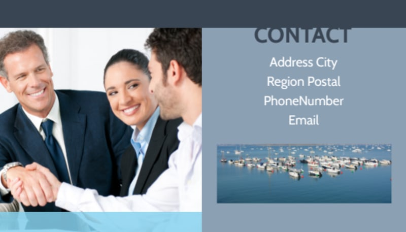 Marine Insurance Business Card Template Preview 3