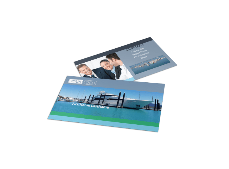 Marine Insurance Business Card Template Preview 1