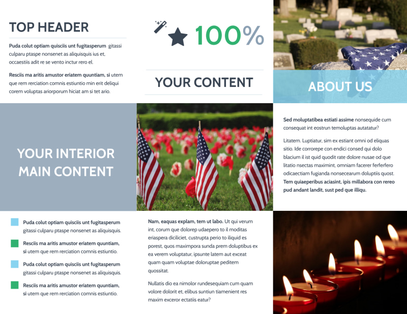 Memorial & Funeral Services Brochure Template Preview 3