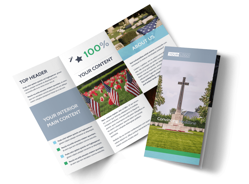 Memorial & Funeral Services Brochure Template Preview 1